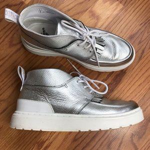 Dr Martens Jemima Silver Ankle Boots